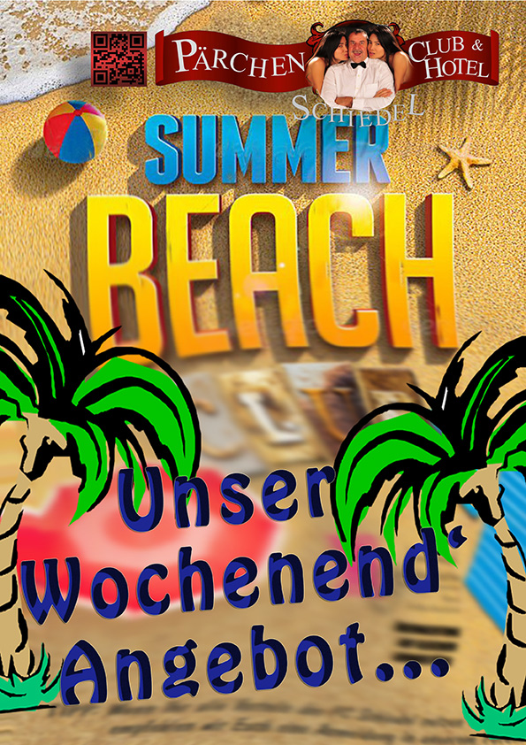 WE ANGEBOT SUMMER BEACH CLUB mit Palmen